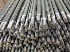 Anchor bolts made of ribbed steel